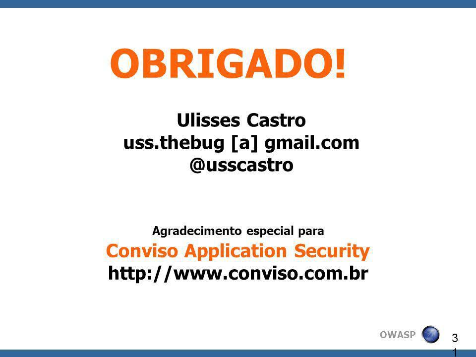Ulisses Castro uss.thebug [a] gmail.com @usscastro